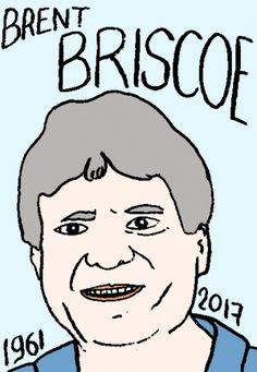 mort de Brent Briscoe, dessin, portrait, laurent jacquy,répertoire des macchabées célèbres,mort d'homme,