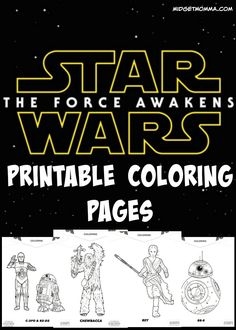 Star Wars Force Awakens Printable Coloring Pages. FREE Star Wars Force Awakens…