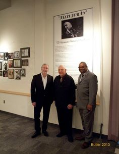 William Ellis, Bob Barry, and Greg Carroll, CEO of the American Jazz Museum on opening night