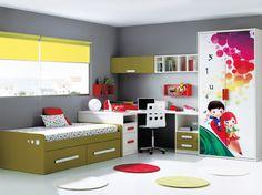 E077-0436C171210 Toddler Bed, Solar, Spaces, Children, Furniture, Home Decor, Rock, Blinds, Colors
