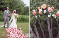 Glitter and Gold Floral Wedding at Bishop Farm, NH – Jenise & Jared