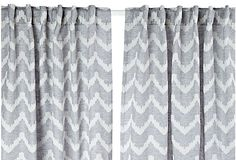 Chevron Linen Curtain Panel, Gray on OneKingsLane.com