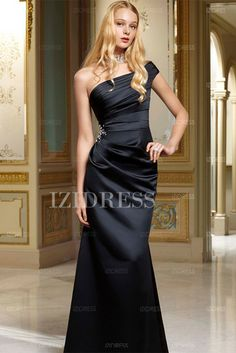 Trumpet/Mermaid One Shoulder Floor-length Satin Evening Dress