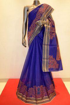 Blue Hand Woven Beautiful Pure Silk Cotton Brand: Janardhan silks Product Code: CSJJ00174 To Shop Online Click Here: http://www.janardhanasilk.com/Blue-Hand-Woven-Beautiful-Pure-Silk-Cotton?search=CSJJ00174