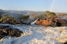 Ruacana Namibia | Sunset At The Ruacana Waterfall In Namibia Photograph by Grobler Du ...