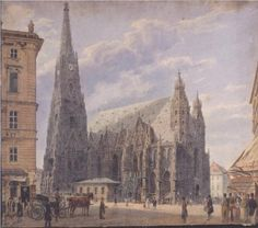 The St. Stephen's Cathedral in Vienna - Rudolf von Alt