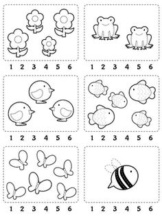 Worksheet: Count and encircle the correct number. // Ficha para…Counting Worksheet: Count and encircle the correct number. Kindergarten Math Worksheets, Preschool Learning Activities, Preschool Activities, Kids Learning, Numbers Preschool, Learning Numbers, Nursery Worksheets, Math For Kids, Kids Education