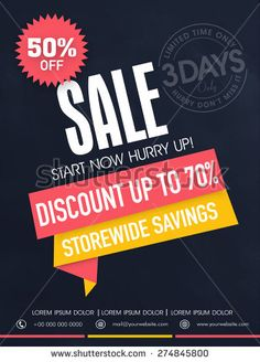 Limited time sale flyer, banner or template with best savings and discount offer.