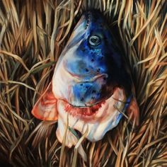 Magdalena Nilges, Salmon in the Grass, 2014 on Paddle8