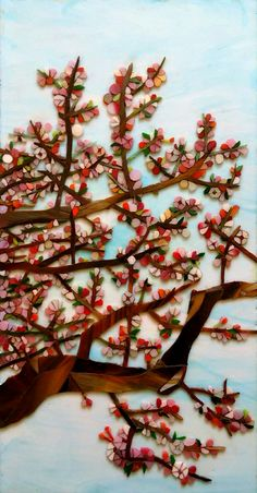 Cherry blossoms (glass on glass)
