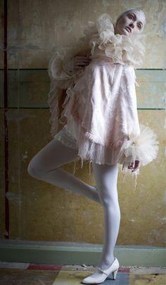 https://flic.kr/p/9qjvJU | Silk tulle neck ruff & cuffs | Pic by Xanthe Ellis. Model Zana O'Connell. MUA Temi Sawyerr Aboderin.