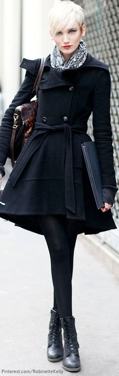 ★ Mysterious Black ★ Chic In The City~ London Street Style.- LadyLuxury
