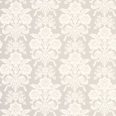 Inset fire means that I can't paper the chimney breast Grey Damask Wallpaper, Room Wallpaper, Fabric Wallpaper, Paper Background Design, Damask Decor, Chimney Breast, Bedroom Vintage, Designer Wallpaper, Decoration