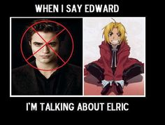 This is what I mean when I say I like Edward as a character. Not sparking Edward, Fullmetal Alchemist Edward