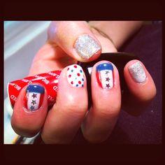 4th of July nails chic nail, juli nail, patriot nail