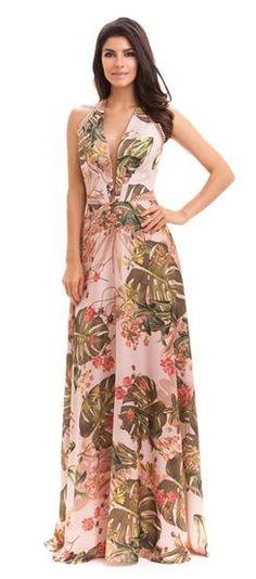 Vestido Estampado Tatum Floral Maxi Dress, Boho Dress, Dress Skirt, Dress Up, Dresses Elegant, Printed Gowns, Floral Fashion, Feminine Style, Dress Collection