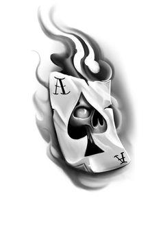 Card Tattoo Designs, Old School Tattoo Designs, Skull Tattoo Design, Skull Tattoos, Tattoo Designs Men, Body Art Tattoos, Hand Tattoos, Chicanas Tattoo, Dark Art Tattoo