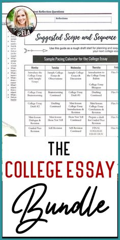This bundle takes high school students through the college essay writing process. Use these mini-lessons to guide writing workshop in English Language Arts in grades 9-12. #writingworkshop #collegeessay #essaywriting #highschool #englishlanguagearts #elateacher #secondaryela Writing Process, Writing Skills, Essay Writing, English Language, Language Arts, Rhetorical Device, Mentor Sentences, Back To School Activities, School Ideas