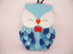 Personalized owl felt Christmas ornament first by ynelcas on Etsy