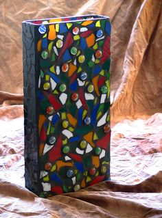 Stained glass Mosaic vase by Donna Avery Photo by Ron Avery