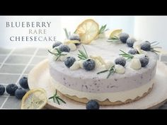 Blueberry cheesecake 不需高技巧 輕鬆做出日系甜點 藍莓生乳酪蛋糕 免烤箱 製作簡單 - YouTube