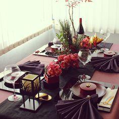 女性で、のテーブルコーディネート/うちごはん/ワイン好き/ホームパーティー/家ご飯…などについてのインテリア実例を紹介。