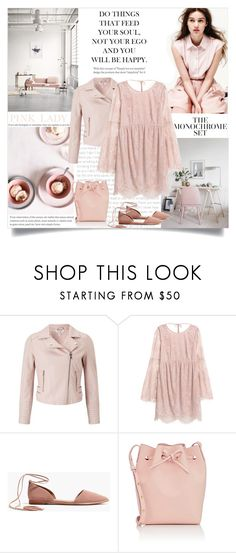 """One Color, Head to Toe"" by catchsomeraes ❤ liked on Polyvore featuring Miss Selfridge, Madewell, Mansur Gavriel, monochrome and Pink"