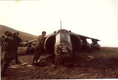 Harrier caído en Malvinas