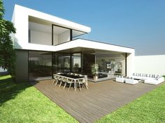 Architectenburo Bart Coenen in Antwerp / / architect of modern houses - Architectural Style Villa Design, Modern House Design, Modern Exterior, Exterior Design, Beautiful Architecture, Architecture Design, Renovation Facade, My Ideal Home, Modern Buildings