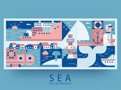 Sea background by Kit8