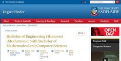Bachelor of Engineering (Honours)(Mechatronic) with Bachelor of Mathematical and Computer Sciences | Degree Finder