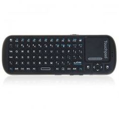 KP-810-19 Mini Smart Remote for PC Android TV 2.4GHz Wireless Keyboard and Touchpad -Black