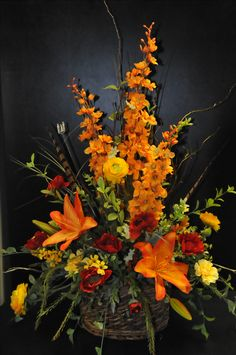 You are able to make your arrangement as elaborate or as easy as you like. These arrangements are excellent for different places in your house like the bathroom, bedroom or workplace. If you would like to make a larger arrangement… Continue Reading → Funeral Floral Arrangements, Large Flower Arrangements, Artificial Floral Arrangements, Fall Arrangements, Artificial Flowers, Silk Flower Centerpieces, Centrepieces, Wedding Centerpieces, Altar Flowers