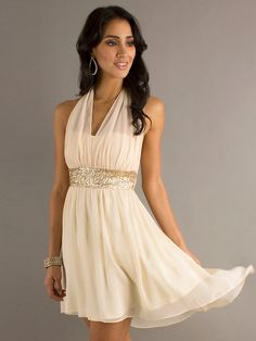 >> Click to Buy << 2016 Halter A Line Bridesmaid Dresses Short Sequins Cheap Wedding Party Gowns robe demoiselle d'honneur Hot Sale #Affiliate
