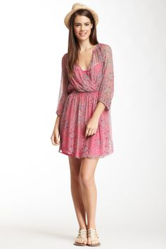 Ella Moss - Silk Mystic 3/4 Length Sleeve Dress. Source: hautelook.com