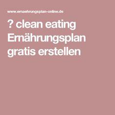 ᐅclean eating Ernährungsplan gratis erstellen