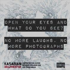 "-- #LyricArt for ""Goodbye Kiss"" by Kasabian"