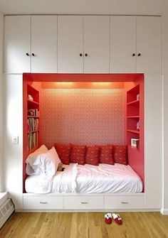 Bedroom shelf storage