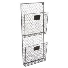 Country Rustic Gray 2 Tier Wall Storage Baskets / Magazine Rack / File Organizer w/ Chalkboard Labels MyGift http://www.amazon.com/dp/B00T56HRH4/ref=cm_sw_r_pi_dp_2YG1vb1Y5NM7N