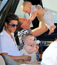 Honestly the sweetest thing I've ever seen! <3 Gay or straight, doesn't matter because this is what a true, happy family looks like!