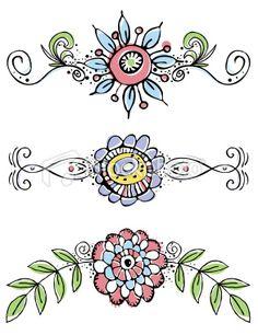 hand draw flowers Royalty Free Stock Vector Art Illustration