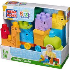 Mega Bloks First Builders Animal Safari Train Play Set $20 (he has a bag of this size regular mega blocks)