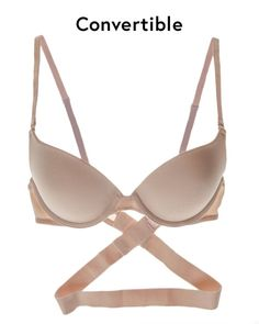 For atypical silhouettes, a convertible bra is ideal for criss-cross, low-back and halter styles.