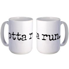 Gotta Run large coffee mug: Choosing gifts for runners can be tough, but this running gift guide will help you choose a great present for the runner in your life.