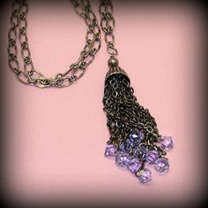 Antique Silver Fringe Necklace by SunsetJewelsCo on Etsy, $68.00