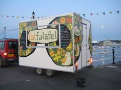 The awesome Fal Falafel trailer on Prince of Wales Pier, Falmouth