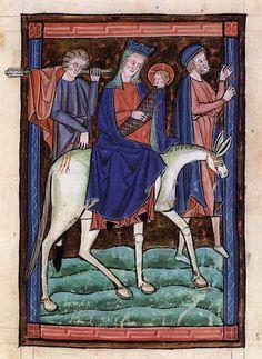 Psalter 1260-80 Manuscript (Lat. I. 77) Biblioteca Nazionale Marciana, Venice