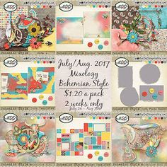 Artistic Creative Designs : Bohemian Style July Mixology by MDD Designs