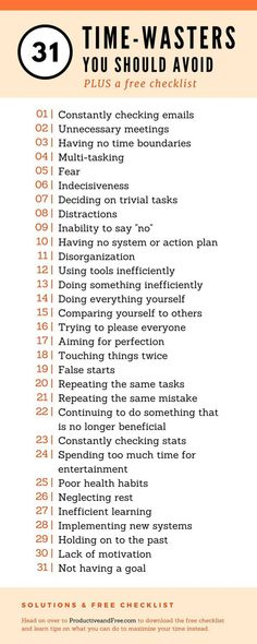 31 Time-Waster You Should Avoid and What To Do Instead + Free Checklist #productivity