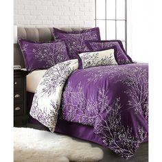 Purple Comforter, Comforter Sets, Ivory Bedding, Comforters Bed, Lavender Bedding, Purple Bedding Sets, Linen Comforter, Bed Linens, Townhouse